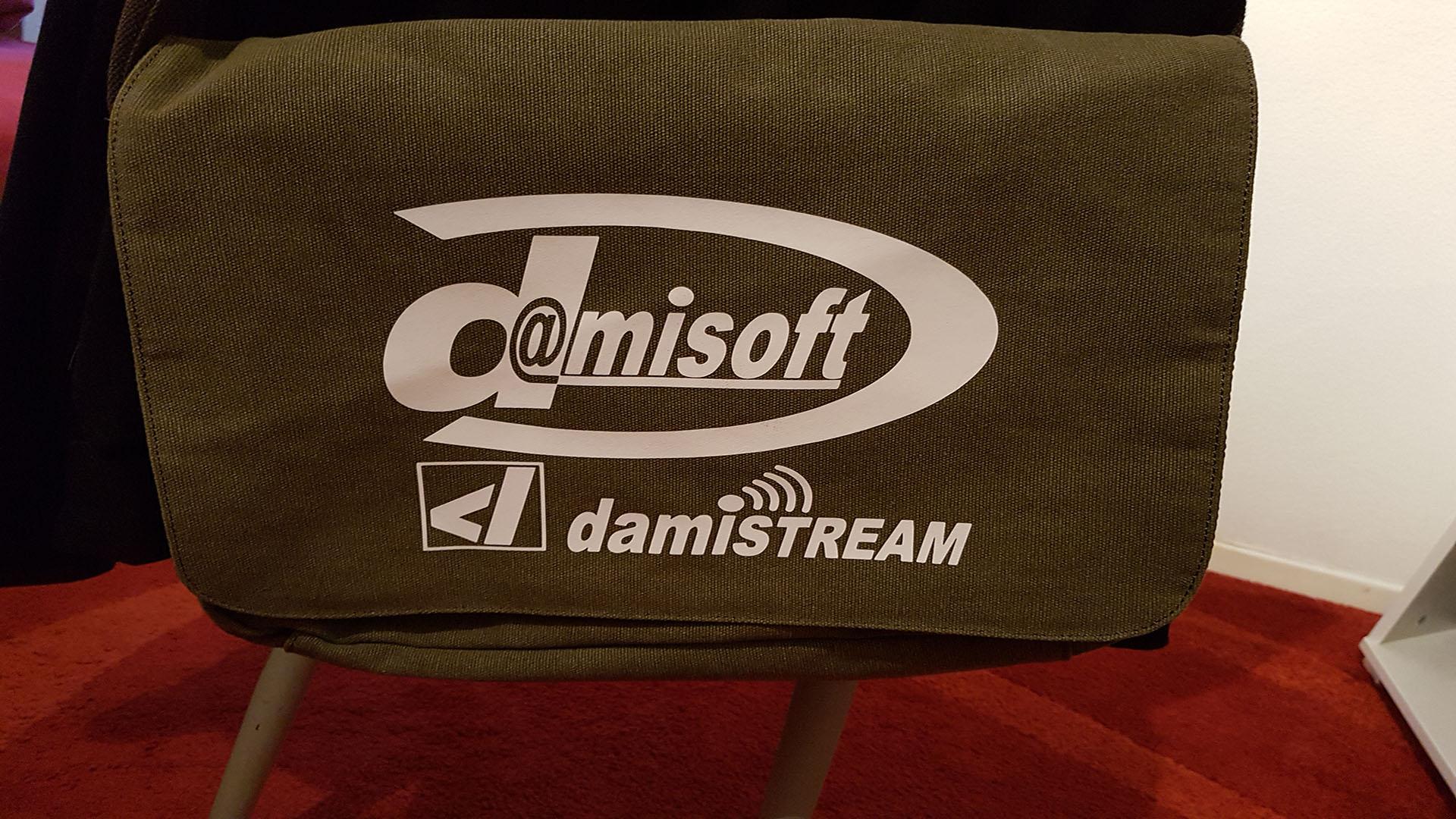 Werbe Tasche für Damisoft und Damistream HD