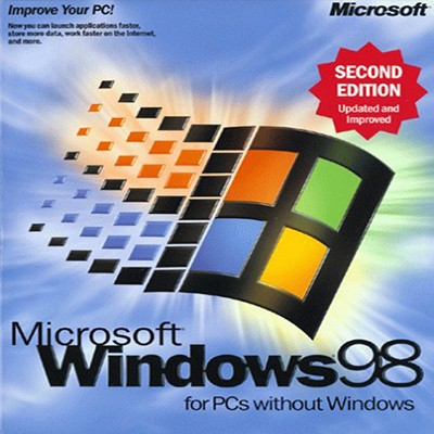 Microsoft Windows 98 Cover CD DVD Icon Damisoft