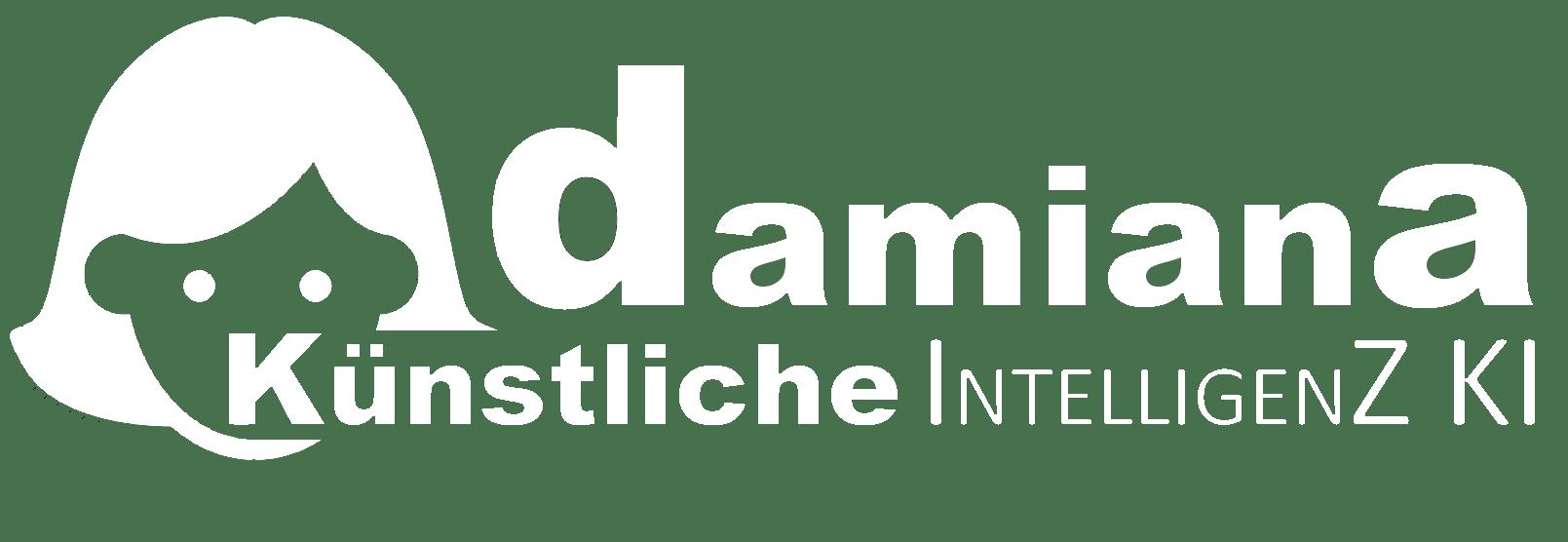 Damiana Künstliche Intelligenz KI 1.0 Bild mit Logo Weiss