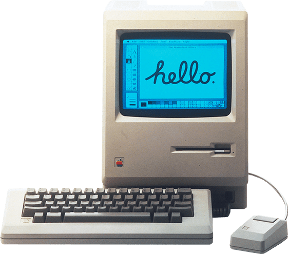 macintosh 512 hello retro paint Apple Computer