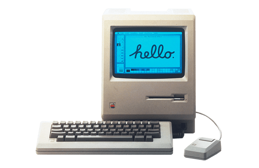 Macintosh Apple Damisoft Computer Hello png transparenz