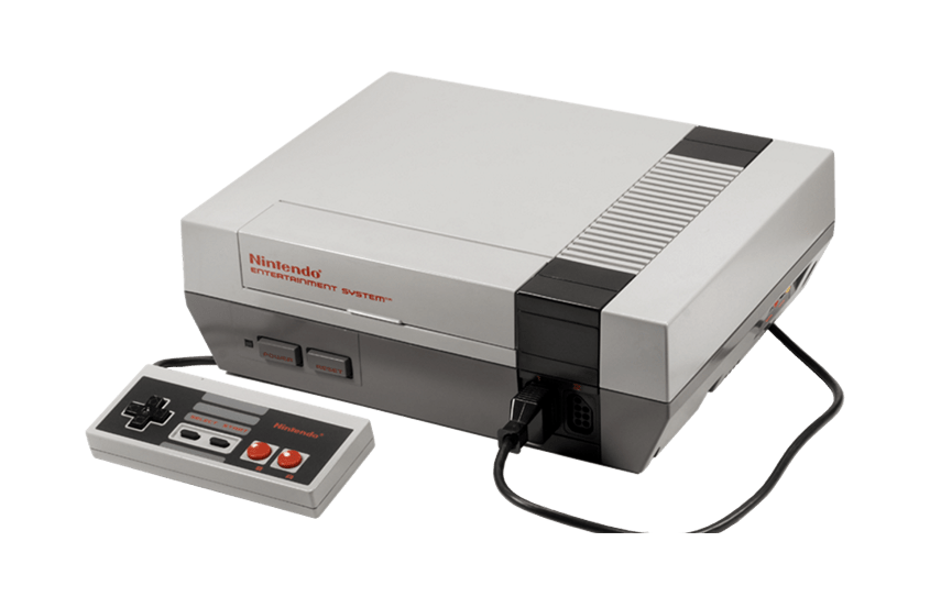 Nintend Damisoft NES Games Controller PNG Console