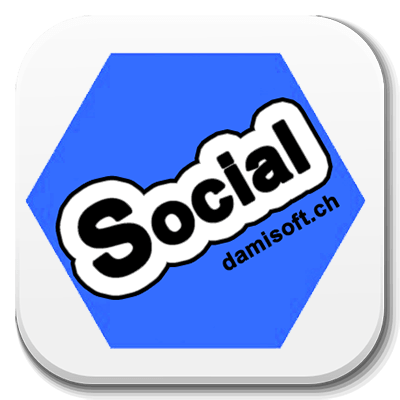 Damisocial Button Damisoft Logo Android App Social Network