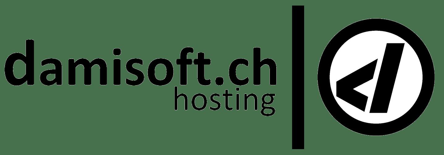 damisoft hosting logo schwarz