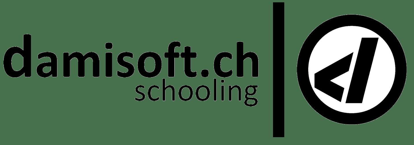 Damisoft schooling Logo schwarz png